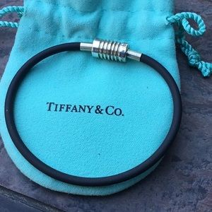 Tiffany & Co. Rubber and Sterling Bracelet